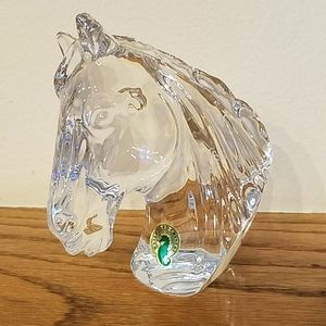 Waterford new in box crystal horse head